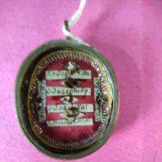 Antigüedades: RELICARIO RELIQUIAS 6 SANTOS. Lote 210723427