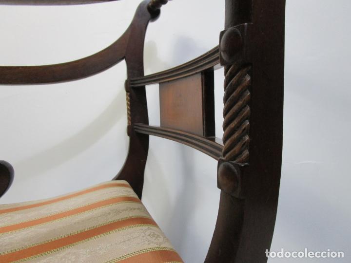 Antigüedades: Sillones Estilo Regency Ingles - Madera de Caoba - Tapicería Perfecta - S. XIX - Foto 12 - 210725272