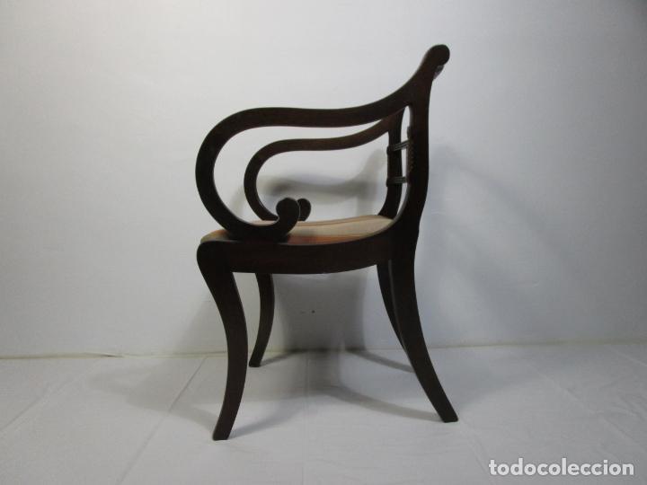 Antigüedades: Sillones Estilo Regency Ingles - Madera de Caoba - Tapicería Perfecta - S. XIX - Foto 15 - 210725272