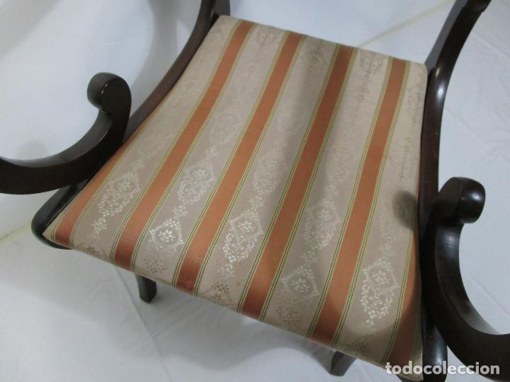 Antigüedades: Sillones Estilo Regency Ingles - Madera de Caoba - Tapicería Perfecta - S. XIX - Foto 16 - 210725272