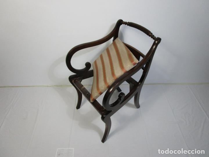 Antigüedades: Sillones Estilo Regency Ingles - Madera de Caoba - Tapicería Perfecta - S. XIX - Foto 17 - 210725272