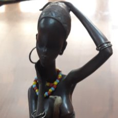 Antigüedades: FIGURA RESINA AFRICANA. Lote 210731177
