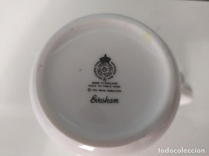 Antigüedades: Taza porcelana inglesa Royal worcester - Foto 4 - 210736092