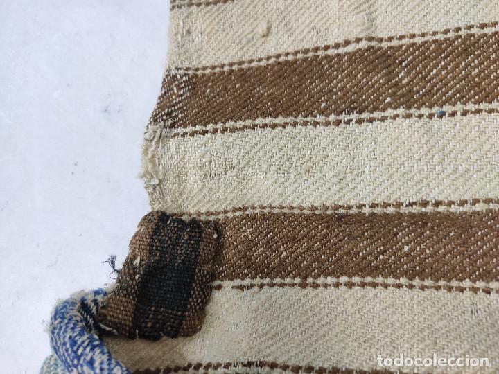 Antigüedades: Alforja de lana tejida en telar - Foto 5 - 210744245