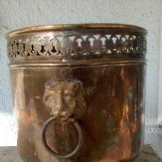 Antigüedades: MACETERO ANTIGUO DE METAL. Lote 210749529