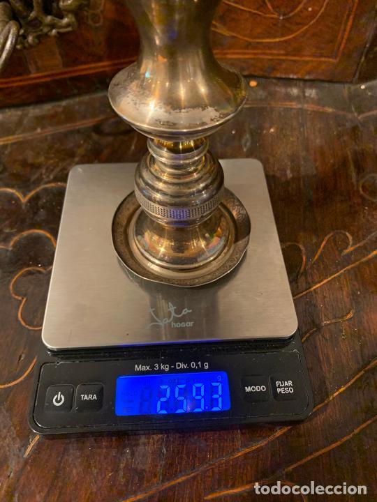 Antigüedades: Candelabro plata de ley antigua XIX Barcelona - Foto 3 - 210769431