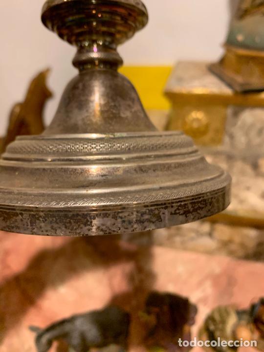 Antigüedades: Candelabro plata de ley antigua XIX Barcelona - Foto 6 - 210769431