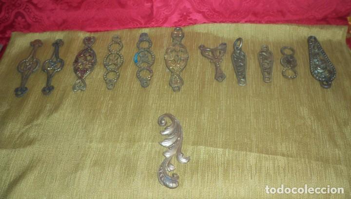 PIEZAS DE ANTIGUA LAMPARA VOTIVA (Antigüedades - Religiosas - Orfebrería Antigua)