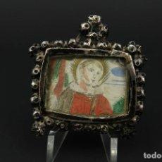 Antigüedades: ANTIGUO RELICARIO DE PLATA SIGLO XVIII. Lote 210784750