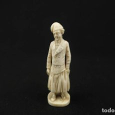 Antigüedades: ANTIGUA FIGURA DE MARFIL TALLADO PAISES BAJOS SIGLO XVIII. Lote 210785347