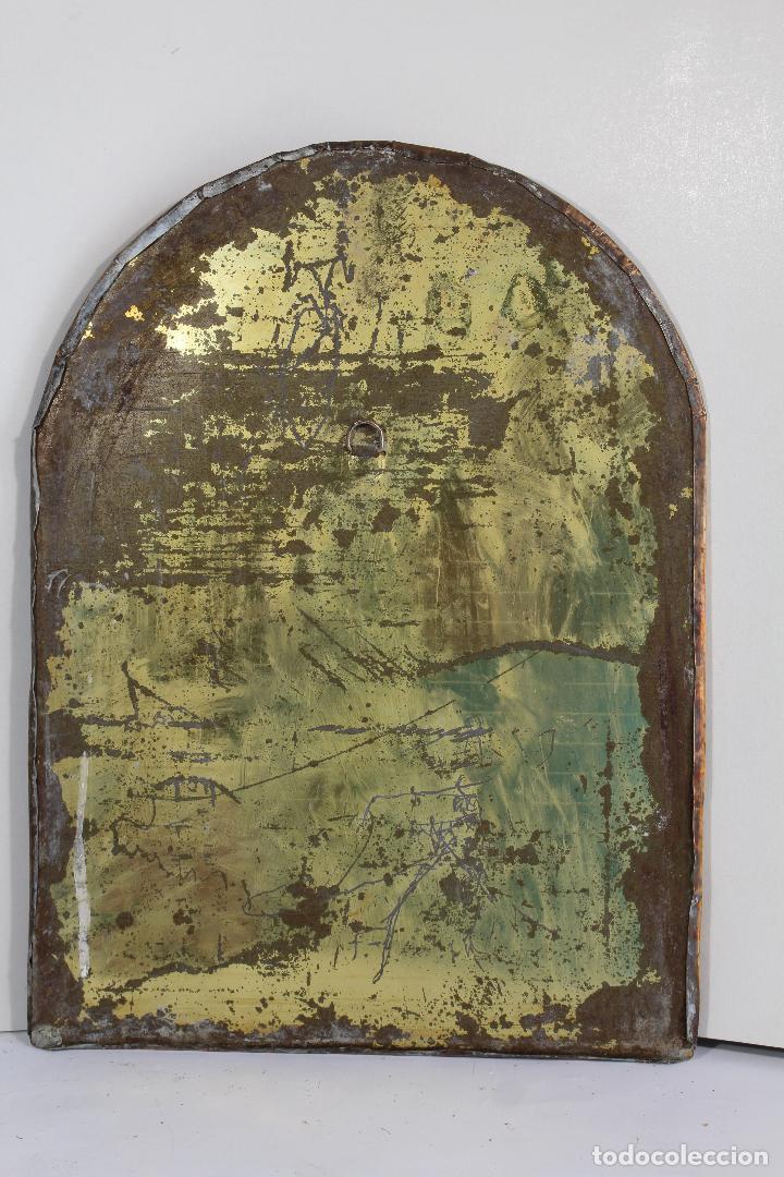 Antigüedades: espejo de marruecos en laton repujado - Foto 2 - 210804344