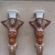 Antigüedades: PAREJA DE APLIQUES DE ALGORA. Lote 210818200