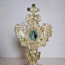 Antigüedades: RELICARIO DE PIE BARROCO, SIGLO XVII - XVIII. Lote 210818976