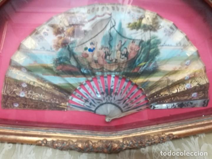 Antigüedades: Abanico cristinos con abaniqueras - Foto 3 - 210824601