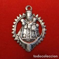 Antigüedades: 4 CMT. MEDALLA PLATA SIGLO XVIII.VIRGEN DE SAN LORENZO .PATRONA VALLADOLID , LEYENDA. Lote 210825870