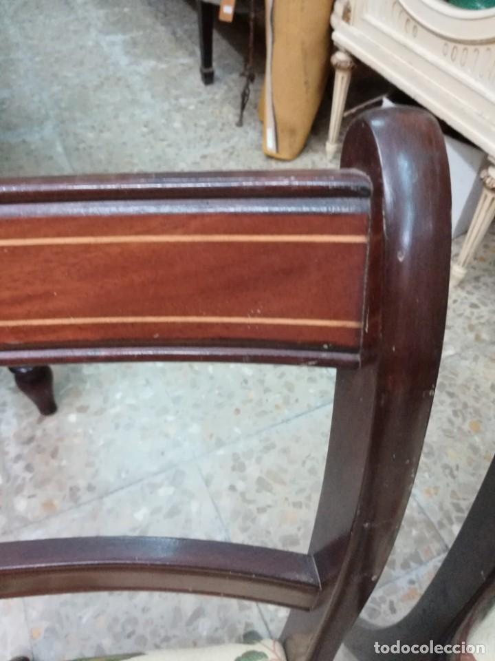 Antigüedades: Dos sillas de caova con un poco de marqueteria - Foto 2 - 210833301