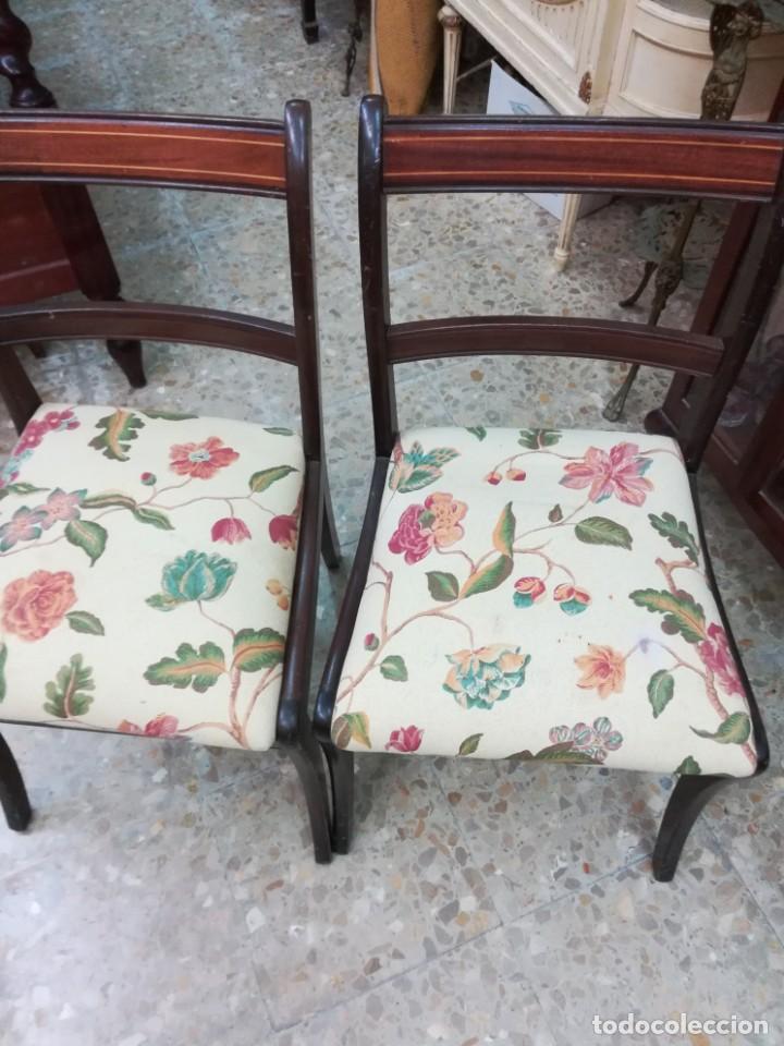 Antigüedades: Dos sillas de caova con un poco de marqueteria - Foto 4 - 210833301