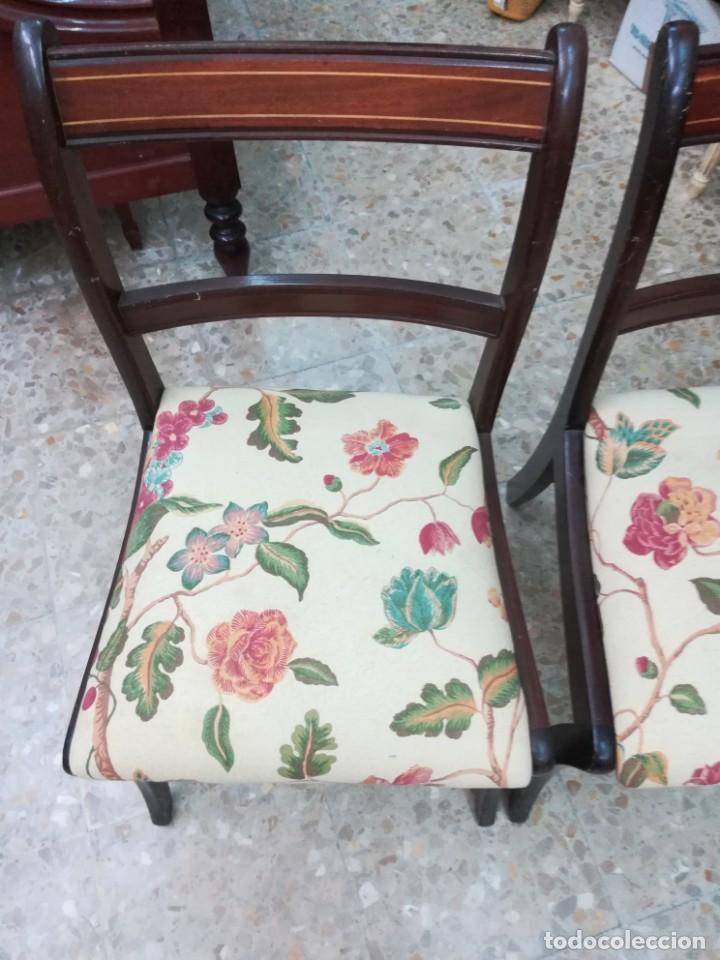 Antigüedades: Dos sillas de caova con un poco de marqueteria - Foto 5 - 210833301