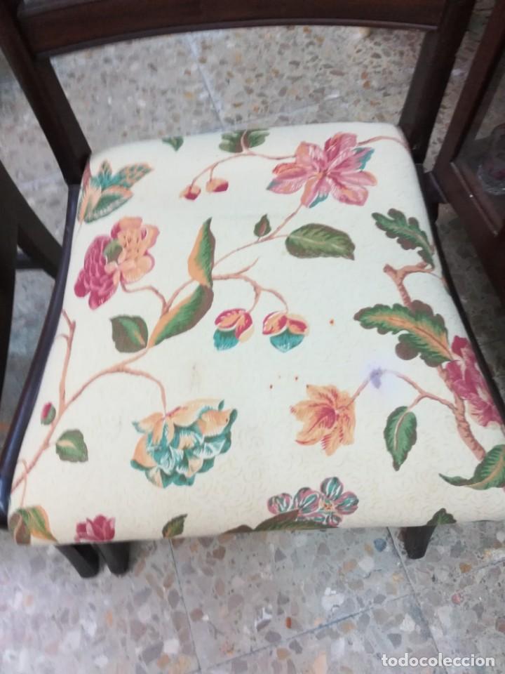 Antigüedades: Dos sillas de caova con un poco de marqueteria - Foto 6 - 210833301