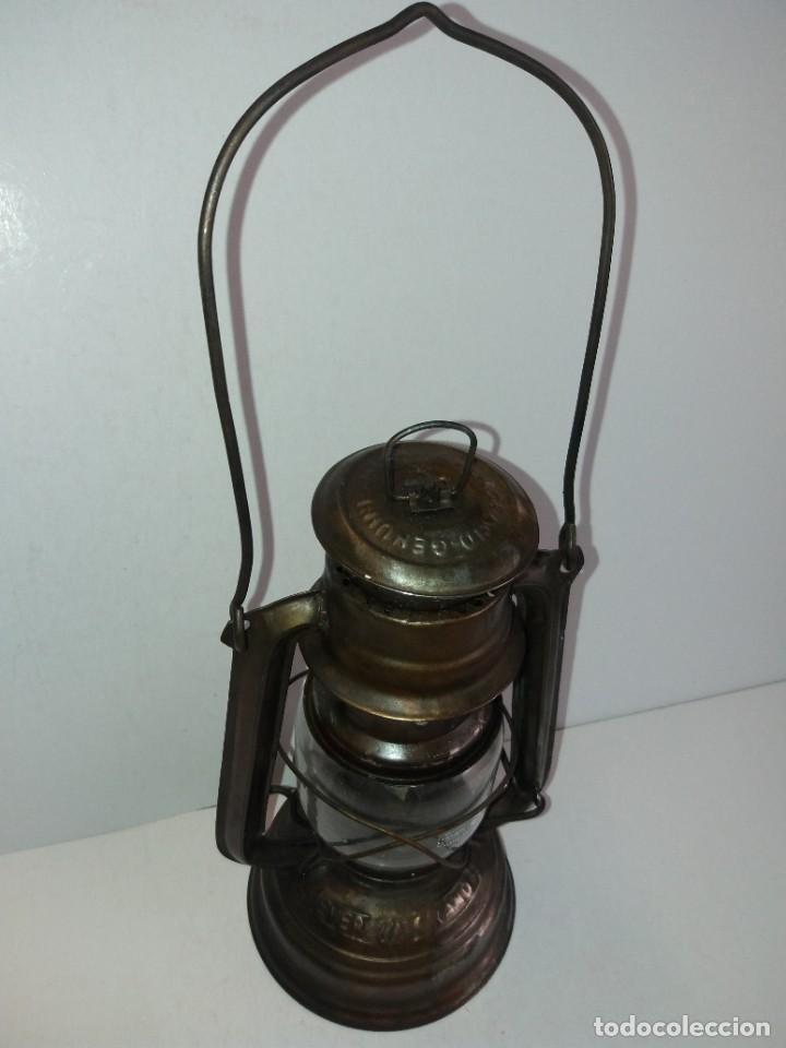 Antigüedades: EXCEPCIONAL GENUINO ANTIGUO FAROL AÑOS 50 S - Foto 5 - 210838316