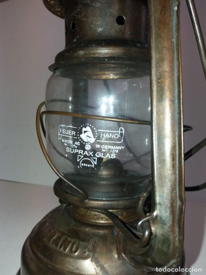 Antigüedades: EXCEPCIONAL GENUINO ANTIGUO FAROL AÑOS 50 S - Foto 10 - 210838316
