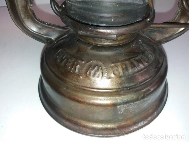 Antigüedades: EXCEPCIONAL GENUINO ANTIGUO FAROL AÑOS 50 S - Foto 11 - 210838316