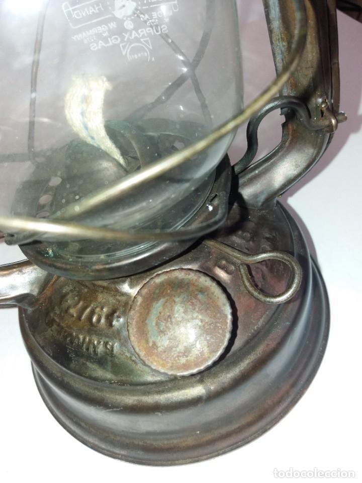 Antigüedades: EXCEPCIONAL GENUINO ANTIGUO FAROL AÑOS 50 S - Foto 12 - 210838316