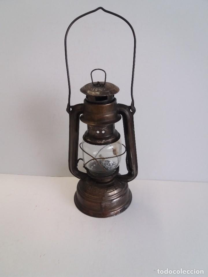 Antigüedades: EXCEPCIONAL GENUINO ANTIGUO FAROL AÑOS 50 S - Foto 13 - 210838316