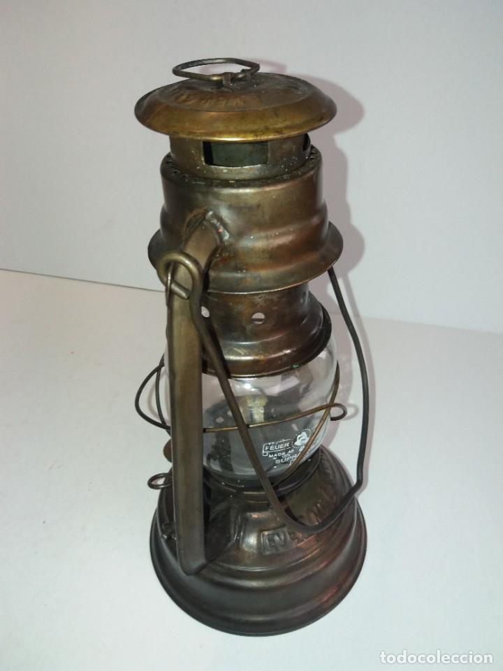 Antigüedades: EXCEPCIONAL GENUINO ANTIGUO FAROL AÑOS 50 S - Foto 15 - 210838316