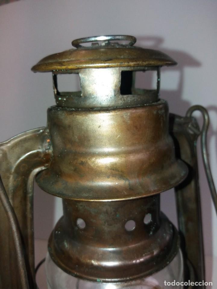 Antigüedades: EXCEPCIONAL GENUINO ANTIGUO FAROL AÑOS 50 S - Foto 20 - 210838316