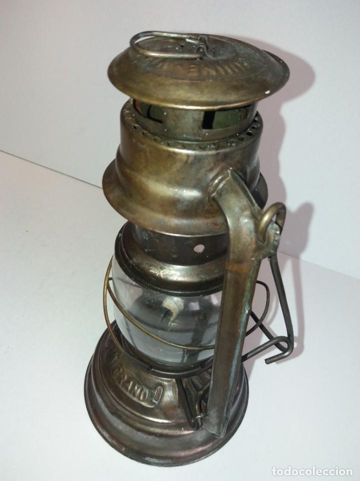 Antigüedades: EXCEPCIONAL GENUINO ANTIGUO FAROL AÑOS 50 S - Foto 23 - 210838316