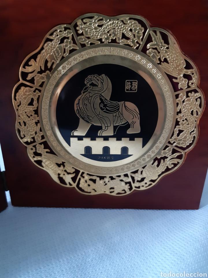 Antigüedades: PLACAS RECUERDO DE NANJING CHINA - Foto 4 - 210839796