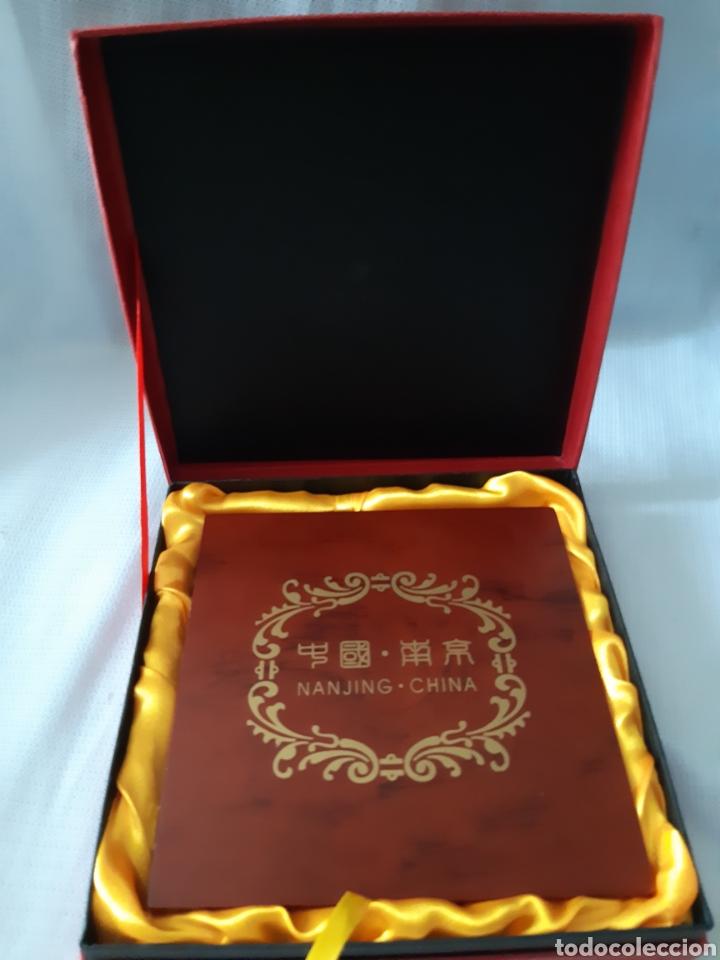 PLACAS RECUERDO DE NANJING CHINA (Antigüedades - Hogar y Decoración - Marcos Antiguos)