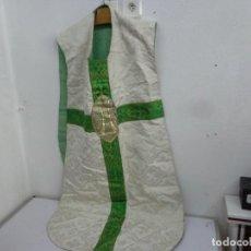 Antigüedades: MUY ANTIGUA DE FINALES DE 1800 Y PRECIOSA CASULLA CURA, COMPLETA Y MUY BUEN ESTADO. Lote 210950742