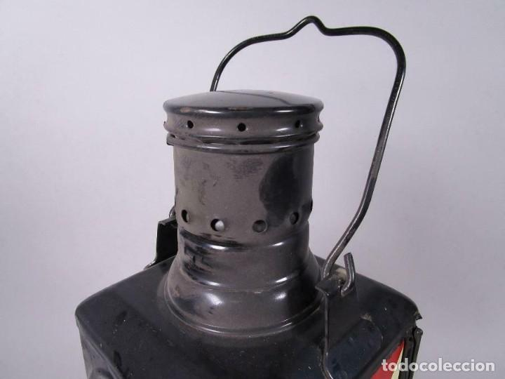 Antigüedades: antigua rara escasa lámpara de tren ferrocarril, trasera, eléctrico. aprox. 50 cm altura - Foto 6 - 210962986