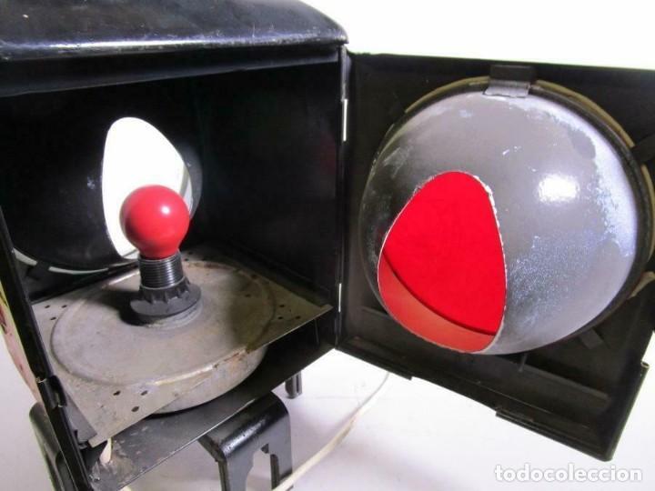 Antigüedades: antigua rara escasa lámpara de tren ferrocarril, trasera, eléctrico. aprox. 50 cm altura - Foto 4 - 210962986