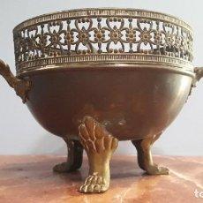 Antigüedades: CENTRO DE MESA DE BRONCE. FINALES DEL XIX.. Lote 210979342