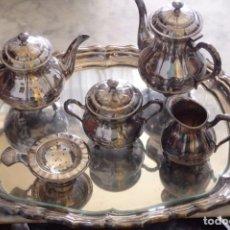 Antigüedades: JUEGO DE CAFE Y TE ALPACA CORTASA. Lote 211255349