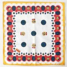 Antigüedades: LOTE 5 SERVICIOS MANTELERÍA SERVILLETA VINTAGE FLORES POP - 100% ALGODÓN COTON PUR - AÑOS 60. Lote 211256231