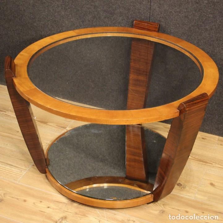 Antigüedades: Mesa de centro de diseño italiano en palisandro y cereza - Foto 4 - 211257286