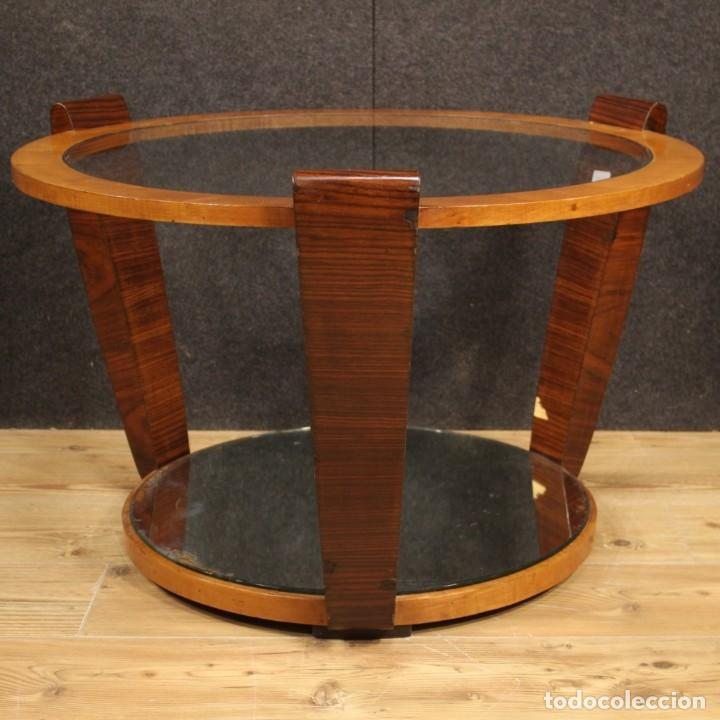 Antigüedades: Mesa de centro de diseño italiano en palisandro y cereza - Foto 5 - 211257286