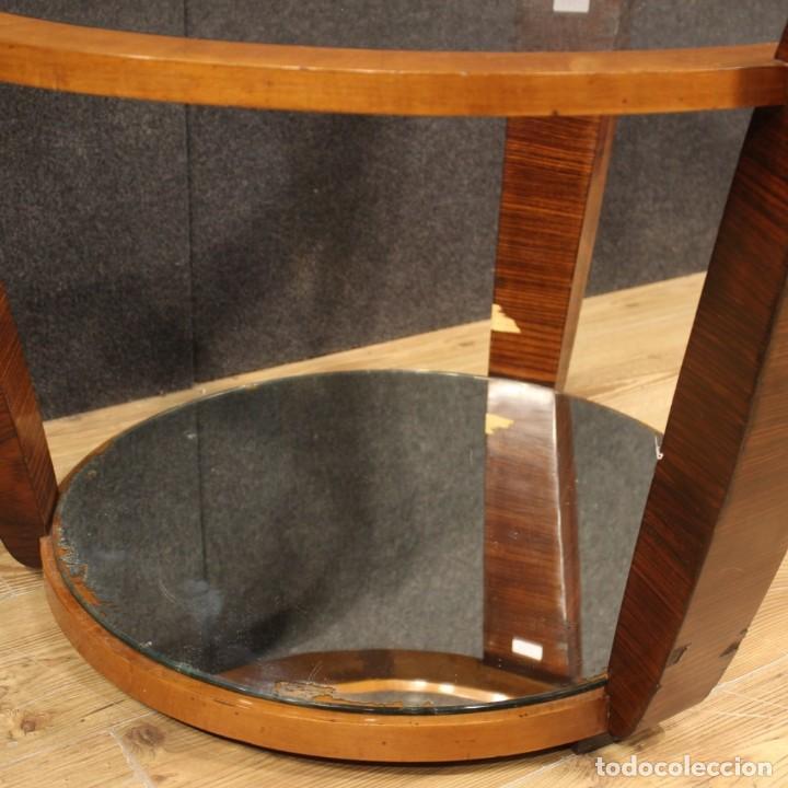 Antigüedades: Mesa de centro de diseño italiano en palisandro y cereza - Foto 6 - 211257286