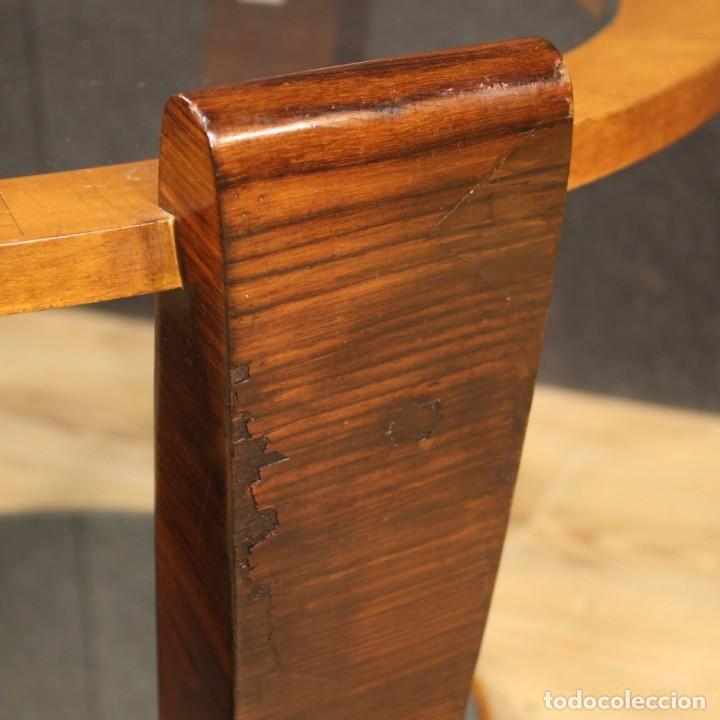 Antigüedades: Mesa de centro de diseño italiano en palisandro y cereza - Foto 8 - 211257286