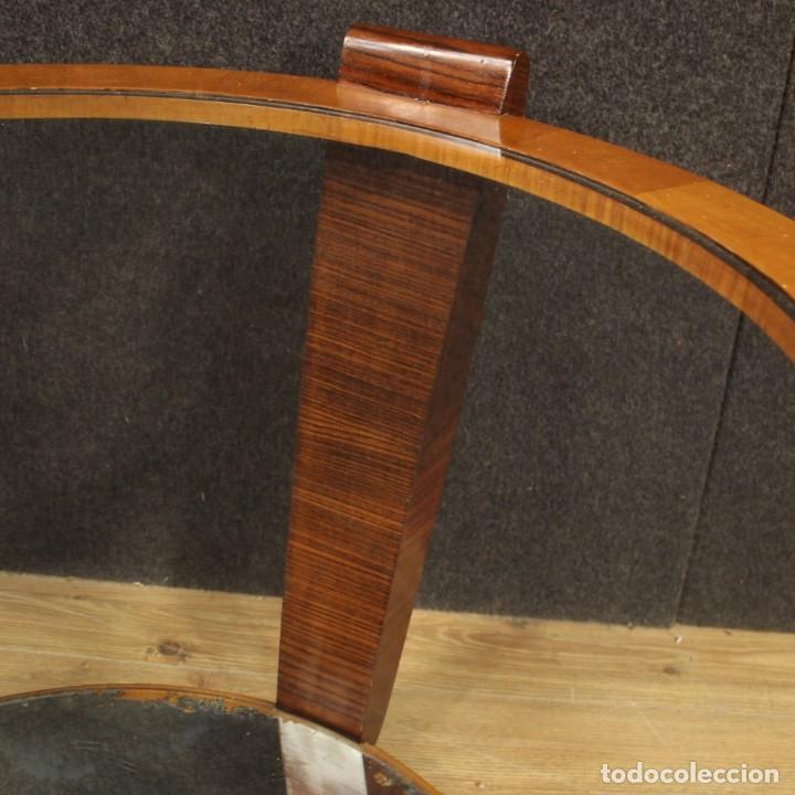 Antigüedades: Mesa de centro de diseño italiano en palisandro y cereza - Foto 9 - 211257286