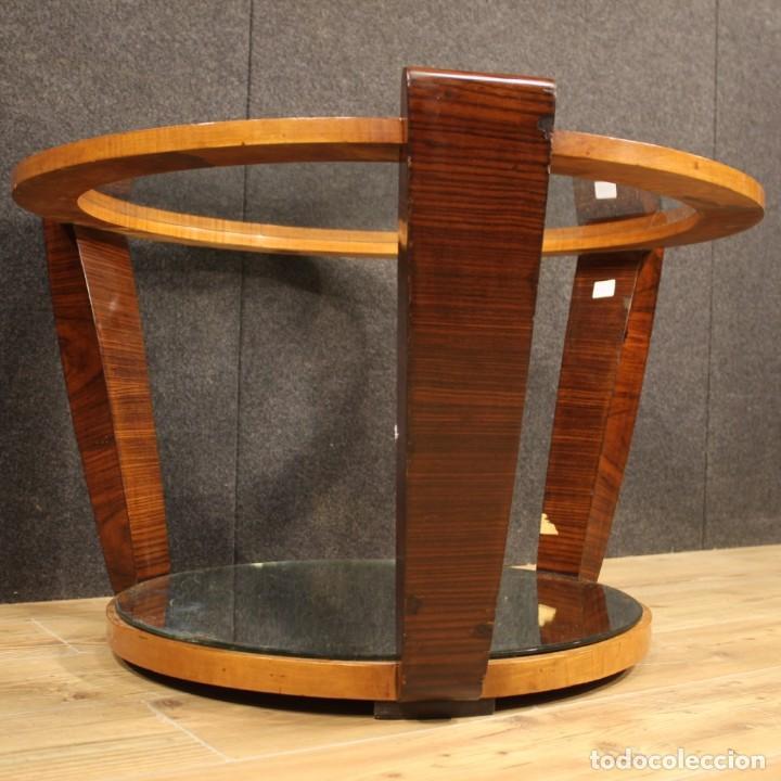 Antigüedades: Mesa de centro de diseño italiano en palisandro y cereza - Foto 10 - 211257286