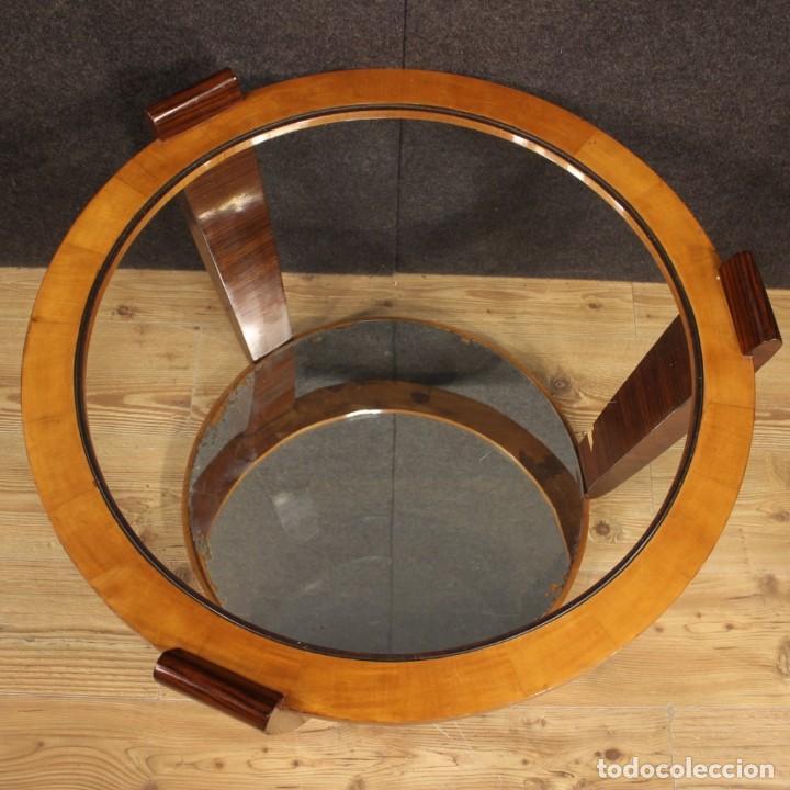 Antigüedades: Mesa de centro de diseño italiano en palisandro y cereza - Foto 11 - 211257286