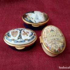 Antigüedades: PILLBOX PASTILLERO PORCELANA ENGLAND , NUMERADO, PARA COLECCIONISTAS. Lote 211260649