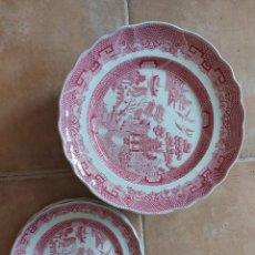 Antigüedades: WILLOW IRONSTONE - 11 PLATOS. Lote 211263856