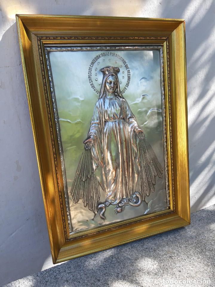 Antigüedades: Cuadro de Alpaca - Foto 2 - 211268902