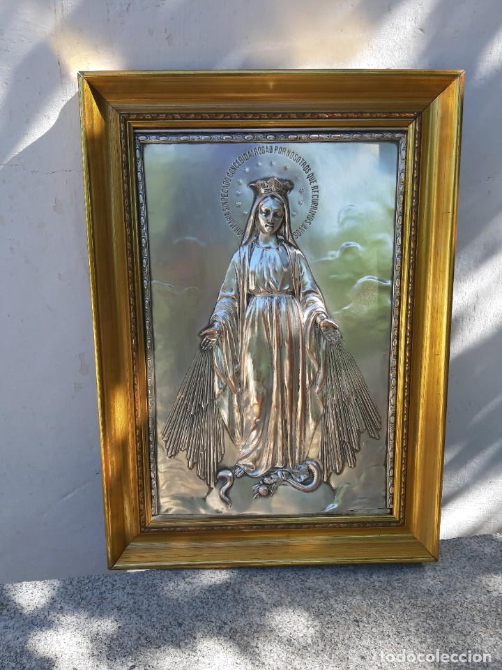Antigüedades: Cuadro de Alpaca - Foto 4 - 211268902